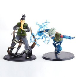figures UK - Naruto Action Figure 2 Two Generations Of Naruto Rachel Kakashi Nara deer pill Personality Figure Decoration