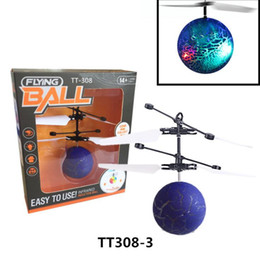 Lighted Toy Helicopters Australia - RC Flying Ball Drone Helicopter Ball Built-in Shinning LED Lighting Remote Control Toys LED Light Mini Helicopter for Kids Toys
