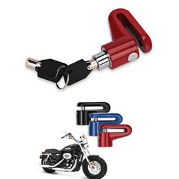 Vente en gros Moto Vélo Solide Roue Frein À Disque Verrouillage Sécurité Anti-Voleur Alarme