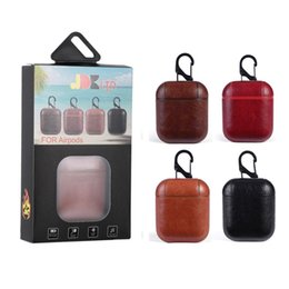 Wholesale Protective Leather Case Cradle Charging Cases for Headset for Apple AirPods Air Pods Gadgets with Retail Packing