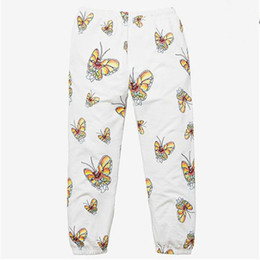 China 19SS GONZ BUTTERFLY SWEATPANT Women Men 1a:1 High Quality Drawstring Joggers Sweat Pants Trousers cheap women pants wide suppliers