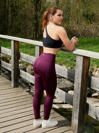 Yoga Pants Xs Canada - New yoga nine pants female tight elastic high waist running pants hip fitness outdoor sports