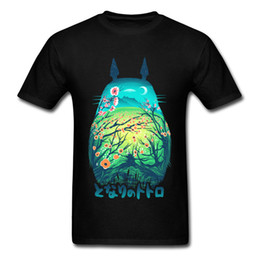 Cotton Cherry UK - Totoro Image Men Tshirt Japanese Anime Awesome T Shirt 100% Cotton 1:1 Printing Tees Slim Fitted T-Shirts Tokyo Cherry Scene