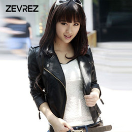 ladies leather jackets Australia - New Autumn Casual Leather Jacket Women 2018 Zipper Turn-down Collar Faux Leather Jacket Coat Ladies PU Moto Biker Zevrez