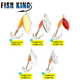 Bait Feeder Australia - Lures Fishing Lure Mepps Long Cast Spoon Spinner 4 pcs lot Silver Gold Metal Fishing Bait Treble Hook Hard Lures Feeder Spooners 531