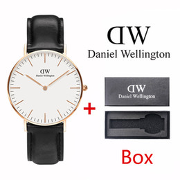 Wholesale Fashion Daniel Wellington ultra thin quartz men mm ladies mm watch leather sports watch with box classic clock watch Relogio Masculino