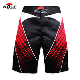 Опт Suotf MMA бокс хлопок дышащие спортивные тренировочные брюки шорты боксерские шорты MUAES THAI бокс дешевые MMA шорты кикбоксинг мужчины короткие