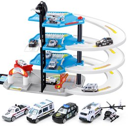 Chinese  DIY Track 3D Car Racing Track Toys Car Parking lot Assemble Railway Rail Toy DIY Slot Model toys for kids Children Birthday manufacturers