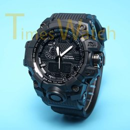 Wholesale Hot New Men s Sports Watches GWG1000 Dual Display LED Digital Fashion Army Military GMT Waterproof Shocking Relogio Masculino Colors