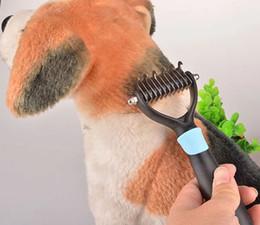 $enCountryForm.capitalKeyWord Australia - Dog cat fur brush Pet hair removal Knot Cutter Puppy grooming Trimmer comb DeShedding Tools Pet Supplies