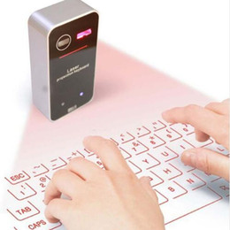 wireless keyboard for smartphone 2018 - New Bluetooth Virtual Laser Projection Keyboard with Mouse Function for Smartphone PC Laptop Portable Wireless Keyboard