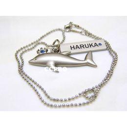 $enCountryForm.capitalKeyWord NZ - Free-iwatobi swim club Nanase Haruka dolphin shape double pendant alloy necklace Cosplay Gift Costume Accessories for Men Women
