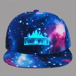 0ce35e304de Glow In Dark Fortnight Hats Caps Teenage Cartoon Summer Sun Luminous Baseball  Hip Hop Snapback Sports Cap Hats Kid Birthday Gift