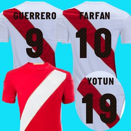 f07ea6fd304 2018 peru soccer jersey GUERRERO away red world cup Paolo Hurtado Trauco  Renato Tapia Andre Carrillo Raul Ruidiaz Cueva football shirt