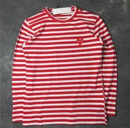 Hombre Roja Blanca Online Camiseta Rayas 29IDHEW