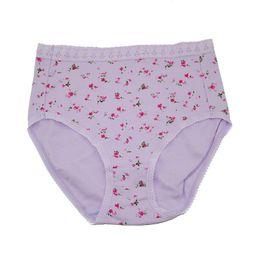 Chinese  New Arrivals High Waist Comfortable Women's Panties Cotton Briefs Flower pregnant women Underwear Plus size S M L XL XXL manufacturers
