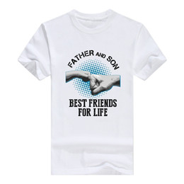 Shorts For Tall Men NZ - T Shirt Sale Crew Neck Llynice Father and Son Best Friends For Life Cute Funny Mens Cotton T-Shirt Men Short Tall T Shirt