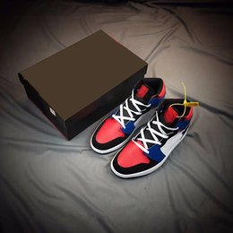 top basketball shoe brands 2019 - Brand 1 High Mid Top 3 mens basketball shoes Women new 1 OG Blue White Red Black men sports trainers sneakers With Box c