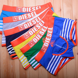 Mens swiMMing briefs online shopping - Men Cotton Boxers Fashion Striped Letters Printed Underpants Mens Casual Underwears High Quality Swimming Short Pants Hot Sale Free DHL