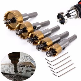 $enCountryForm.capitalKeyWord NZ - 5pcs HSS Hole Saw Stainless Steel Alloy Metal Milling Cutters Drill Bit Set 16 18.5 20 25 30mm with 5pcs Wrenches