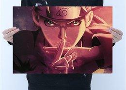 Toptan satış Ücretsiz kargo sıcak yüksek kalite Kahverengi Poster Uzumaki Naruto Hokage ve Duvar ev ve iş için kahverengi kağıt hakkında 50 * 35 cm