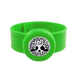 $enCountryForm.capitalKeyWord NZ - Tree 25mm Diffuser locket Kids Mosquito Repellent Bracelet Essential Oil Diffuser Locket Stretchable Silicone Slap Bracelet