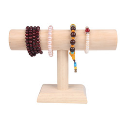 Hair Rack NZ - 2018 New Product Wooden Bangle Bracelet Watch Hair Bands Show Wearing Jewelry Display Props Jewelry Display Shelf Rack