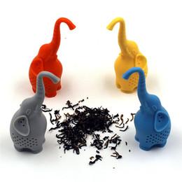 Bonito Silicone Elefante Forma Chá Infusor Folha Solta Herb Spiece Filtro de Chá Acessórios 4 Cores em Promoção