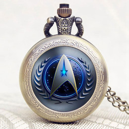 $enCountryForm.capitalKeyWord Australia - Classic New Arrival Star Trek Cool Desgin Pocket Watch With Chain Necklace Birthday Christmas New Year for Men Women Children
