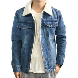 796f903ee42 Discount denim jacket men wool - 2018 Men s Fashion Denim jacket Autumn and Winter  Black Denim
