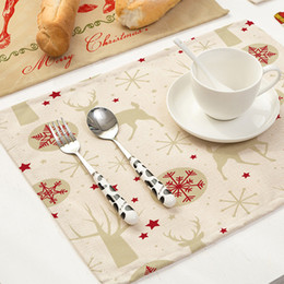 $enCountryForm.capitalKeyWord Australia - Christmas placemats for kitchen table home accessories Christmas kitchen desk accessories Bowl Fork Placemat Mat Decoration