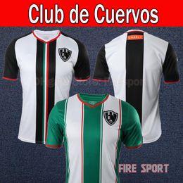bbc64c04f0f Size S-XXL 2018 2019 LIGA MX Mexico Club de Cuervos Soccer Jersey Home Away  18 19 Club MEXICO CLUB football shirts