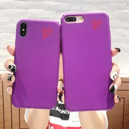 $enCountryForm.capitalKeyWord Canada - Violet Small Love IPhone8 Hand Shell Apple X 7plus 6s Personality Full Package Defence Fall Matting Men And Women Tide