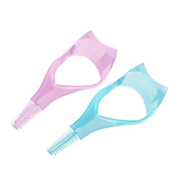Wholesale 3in1 Mascara Shield Guard Eyelash Brush Curler Guide Applicator Comb Makeup Tool
