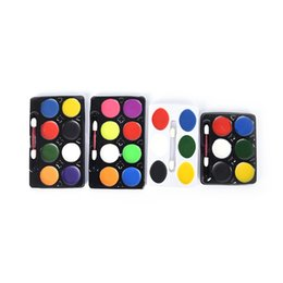 Body Art Face Paint UK - 5 6 8 Colors Party Non Toxic Water Paint Oil Makeup Face Body Painting Art Kit With Brush For Christmas Fancy Carnival Vibrant