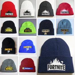 Wholesale beanie embroidery online shopping - Fortnite Knitted Beanies Cap Unisex Warm Embroidery Hooded Hip Hop Hat Outdoor Adult Children Costume Cap For Halloween Christmas HH7