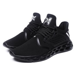 walking lights UK - 2018 New man outdoors Walking shoes male light weight breathable sneakers lace up flats sport jogging shoes plus size 39-46