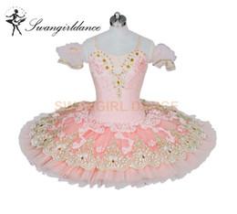 Wholesale sugar adult for sale – custom Sugar Plum Fairy Peach Pink Women Flower Professional Pancake Tutu Adult Ballerina Platter Tutu Kids BT9028