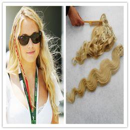 $enCountryForm.capitalKeyWord Australia - #613 Bleach Blonde Brazilian Body Wave Hair Clip In Hair Extensions 7pcs clip in human hair extensions Products