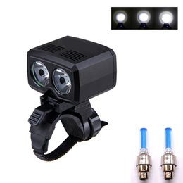 Wholesale Bike Light Bicycle LED Lamp x XM L T6 LED Cycing Lights USB Rechargeable Headlight Wheel Spoke Light Set Bike Accessories