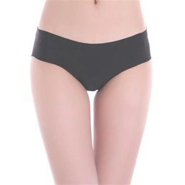 Natural Cotton Underwear Australia - Women Invisible Underwear Thong Cotton Spandex Gas Seamless Crotch Sexy& Casual Natural panties sexy lingerie sexy panties S1018