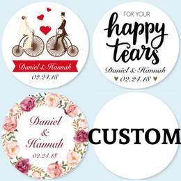 4CM, 96 Stück, personalisierte personalisierte Hochzeit Aufkleber, Logos, Candy Favor Boxen Tags, Cupcake, Flaschenetiketten, Einladungen Dichtungen