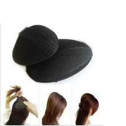 Hair volume insert online shopping - 1pc Small pc Big Hair Base Bump Styling Insert Tool Volume Fluffy Princess Styling Increased Hair Sponge Pad Hair Puff paste