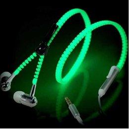 Светящиеся наушники светятся в темноте наушники металлические молнии ночное освещение светящиеся гарнитура с микрофоном громкой связи для Iphone DHL бесплатная доставка на Распродаже