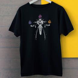 $enCountryForm.capitalKeyWord NZ - High Quality Custom Printed Dota 2 Invoker 3 Art Silhouette Figures New Black Tees T-Shirt 100% cotton casual printing short sleeve