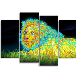 $enCountryForm.capitalKeyWord Australia - painting & calligraphy print lion canvas poster wall art living room restaurant Bedroom Decorative paintings SZ4-009