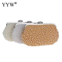 $enCountryForm.capitalKeyWord Australia - YYW New Evening Clutch Bag Women Oval Shaped Pearl Beaded Handbag Ladies Wedding Purse Party Rhinestones Pearl Wallet Clutch