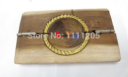$enCountryForm.capitalKeyWord Australia - 2pcs natural wood mold Dumpling Crispy es Pie Press copper Mold DIY Pies Mould Maker Tool Kitchen Supplies Chinese
