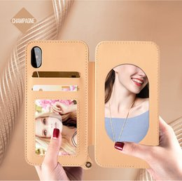 cell phone mirror cover NZ - 2018 Custom Design Mobile Smartphone Cover Card Slots Mirror Cell Phone Case Supplier For Iphone Case X 8 8Plus 6 6S 7 7Plus Galaxy S8 plus