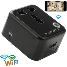 Dvr Adaptor NZ - 32GB 1080P HD Wifi Socket Camera Mini Charger Adaptor Camera Motion Activated DVR Portable Security Camcorder Support IOS Android